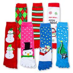 Five Below Christmas toe socks! Wacky Socks, Silly Socks, Kids Socks, Christmas Toes, Christmas List 2016, When Is My Birthday, Leggings, Tights, Toe Socks