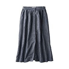 WOMEN Ines Check Gathered Skirt