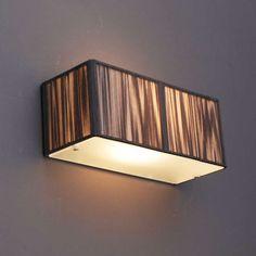 Shop for QAZQA Rope S online! Rectangular, Dark Grey, Lamp, Deco, Wall Lamp, Wall Lights, Bedroom Lighting, Home Decor, Lights