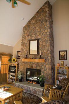 Buckeye River Rock Fireplace
