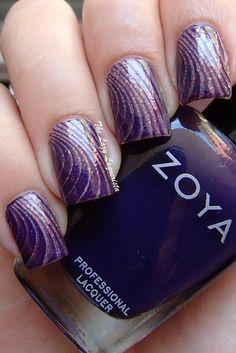 Stripe nail stamping, stripe nail art  LynBDesigns Pliny The Elder Oops, Zoya Pinta, MoYou London Pro Plate XL 20.