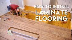 Installing Laminate Flooring for the First Time // Home Renovation: This week, I conquered my first home renovation project, installing laminate flooring on a concrete slab floor in our finished basement. Don't miss the build video above for more details! Installing Laminate Wood Flooring, Linoleum Flooring, Vinyl Plank Flooring, Hardwood Floors, Flooring Sale, Luxury Vinyl Flooring, Best Flooring, Flooring Ideas, Diy Flooring