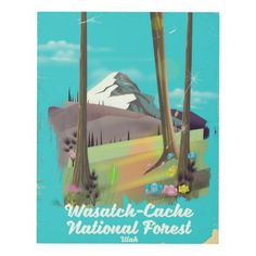 Wasatch-Cache National Forest Utah vacation poster - vintage gifts retro ideas cyo