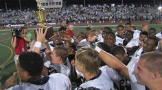 The Crusader's celebrate their win of Four Diamonds Trophy Friday night. (09/07/12)