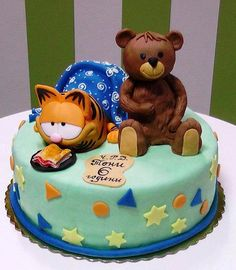 garfield cake by The House of Cakes Dubai, via Flickr