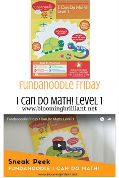 Help Your Preschooler learn essential math skills with Fundanoodle I Can Do Math! Level 1