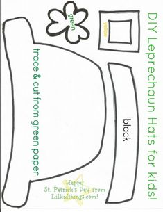 leprechaun mask template - 1000 images about kids crafts on pinterest window
