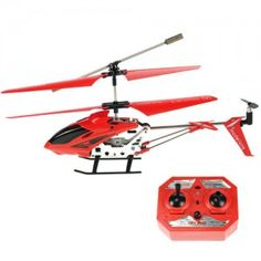 360 Degree Position 3.5 Channels Remote Control Rechargeable Helicopter Model - Red
