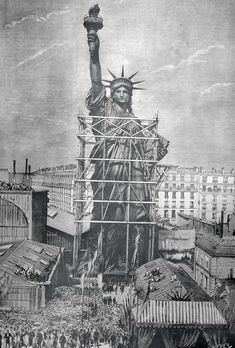 Statue of Liberty Delivered to the American Ambassador in Paris, France, July, 1884 Statue Of Liberty Meaning, Statue Of Liberty Facts, Statute Of Liberty, Paris Vintage, Vintage New York, Liberty New York, Ville New York, Liberty Island, New York Harbor