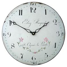 Roger Lascelles Clocks This beautiful design is taken from a Century French clock. It has a soft white enamel look that echoes the original enamel dial. Julie Wood, Indoor Flower Pots, French Clock, London Clock, Nostalgia, Best Wall Clocks, Wall Clock Online, Wine Wall, Shopping