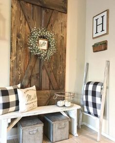 Farmhouse Wall Decor Ideas with Barn Doors