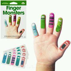 Temp tattoo finger puppets