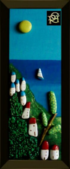 Il mio mare-Painted Stones di Rosaria Gagliardi