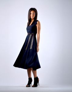 Trendy Flute Dress - Navy Blue Navy Blue Dresses, Flute, Diana, Elegant, Chic, Beautiful, Design, Classy, Shabby Chic
