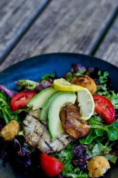Simple Grilled Fish Salad...
