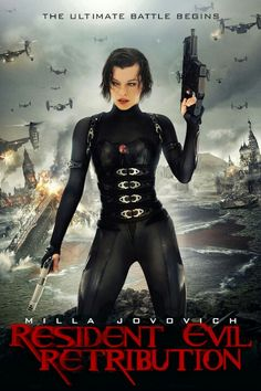 Resident Evil 5: Retribution (2012). Milla Jovovich (Alice), Sienna Guillory (Jill), Michelle Rodriguez (Rain), Boris Kodjoe (Luther). Alice fights alongside a resistance movement in the continuing battle against the Umbrella Corporation and the undead. Zombies | Action | Sci-fi | Horror.