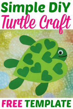 See this post for a FREE printable template to make your own Valentine s Day Turtle! This simple DIY Turtle Valentine s Day is an easy craft for toddlers, big kids and adults to make. Great for classroom Valentine s Day art projects. Valentines Art For Kids, Kinder Valentines, Valentine Crafts For Kids, Valentines Diy, Easy Toddler Crafts, Diy Crafts For Teen Girls, Valentine's Day Crafts For Kids, Easy Diy Crafts, Family Crafts