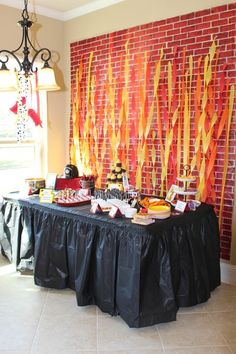 The Monogrammed Mom: Recipes. Tips & Tricks. Third Birthday, 4th Birthday Parties, Birthday Party Decorations, Birthday Diy, Fireman Party, Firefighter Birthday, Fireman Cake, Fire Party Ideas, First Birthdays