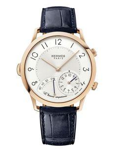 La montre Slim L'Heure Impatiente d'Hermès