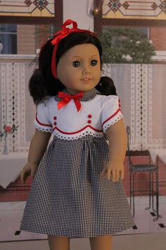 Frock for Kit, Ruthie, or any American Girl Doll Sewing Doll Clothes, Doll Clothes Patterns, Girl Doll Clothes, Girl Dolls, Ag Dolls, Doll Patterns, Dress Patterns, My American Girl Doll, American Doll Clothes
