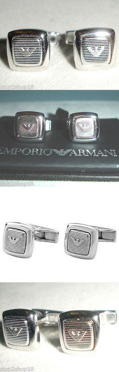 Cufflinks 137843: Emporio Armani Sterling Silver Square Cufflinks Eagle Logo Eg2884040 New -> BUY IT NOW ONLY: $84.9 on eBay!
