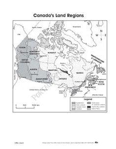 Grade 4 Social Studies - Canada Map activity sheet