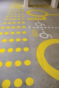 TAP – Théâtre et Auditorium Poitiers by atelier: Image 8 of 10 Floor Signage, Park Signage, Environmental Graphic Design, Environmental Graphics, Architecture Graphics, Drawing Architecture, Architecture Panel, Architecture Portfolio, Architecture Design