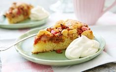 Raparperi-kaurakakku Danish Dessert, Bon Appetit, French Toast, Cheesecake, Gluten, Pudding, Sweets, Breakfast, Desserts