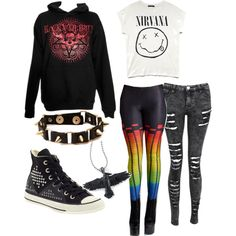 Emo, gothic, or just really like bands? In need of a back to school outfit idea? Well here's something that may help you!
