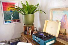 Lovely little vintage corner done SoCal style - Sasha's Silver Lake Bohemian Bungalow