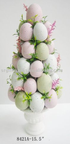 Easter Egg Topiary.  I'm actually going to make this.