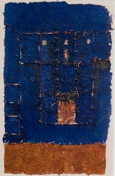 Takahiko Hayashi - D-9.Nov.1991 85x52cm paper making, painting, collage 林孝彦