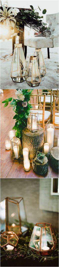 chic geometric lantern wedding decoration ideas #weddingdecor #weddinglights #weddinglanterns #lanterndecorations #weddingideas #weddingdecoration