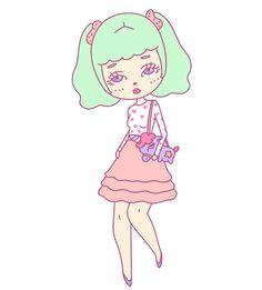 Miky // by Missiku #illustration #pastel #unicorn