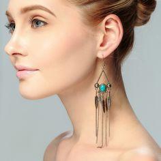 Chandelier Earrings Pendientes Panjang Boho Pinggiran Anting Perhiasan Gypsy Boho Chic Pernyataan Menjuntai Drop Earrings brincos Boheme