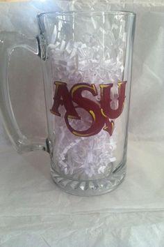 Hand painted ASU beer mug by Samantha Blair.