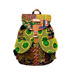 We dipped this one in a rainbow mix. African Inspired Fashion, Africa Fashion, Mode Wax, Ankara Bags, African Fabric, African Prints, African Accessories, Fashion Accessories, Back Bag