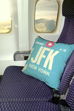 JFK Airport Throw Pillow #travel #airplane #window #decoration #flying #flight #newyork #ny #nyc