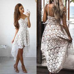 a585361b197f Letní dlouhé plážové šaty bílé – Velikost L Na tento produkt se vztahuje  nejen zajímavá sleva