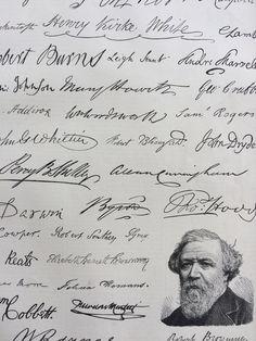 1889 Autographs Original Antique Engraving - Eminent Authors - matted and ready to frame - Victorian Decor - Literature - John Milton by NinskaPrints on Etsy https://www.etsy.com/uk/listing/545087186/1889-autographs-original-antique