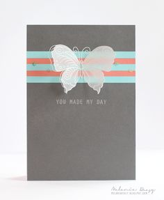 Vellum Butterfly card by Melania Deasy