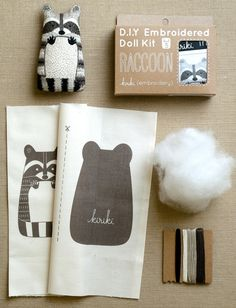 Little animal embroidery kit from Purl Soho. So many critters!
