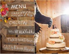 Wedding Cake With Burlap