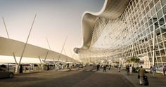 Work with Kohn Pedersen Fox London on the Abu Dhabi International Airport Abu Dhabi, Architecture Jobs, Airport Design, Underwater Animals, Unique Buildings, Higher Design, International Airport, Landscape, Current Job