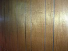 Wood paneled walls.