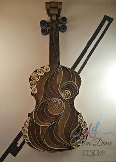 Wood Grain Violin//Violins//Musical Instruments//Violin Bows//Quilled…