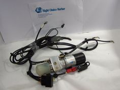 05-08 Chrysler PT Cruiser Convertible Top Hydraulic Motor Pump w/cable lines #PTCruiser
