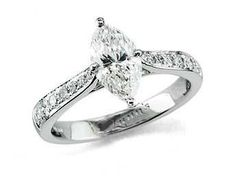 Marquise wedding ring- If I could pick my engagement ring...this would be it. Hands down.