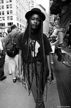 Africa-Box braids-Brownskin