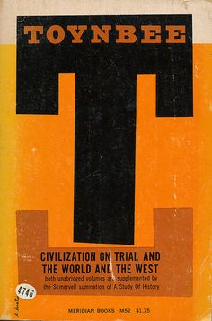 Civilization on Trial and The World and The West cover by Elaine Lustig 1958